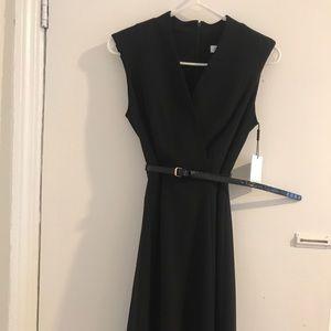 Never worn Calvin Klein Belted back wrap dress
